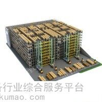 自动化立体库铝合金堆垛机巷道堆垛机双立柱