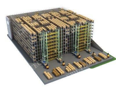 自动化立体库铝合金堆垛机巷道堆垛
