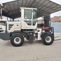 莱州欧泰机械直销多功能四驱叉车 铰接式转向四驱越野叉车堆高4吨/5吨