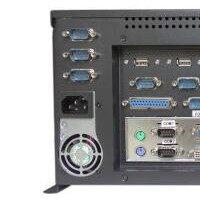 研越 MIS-MATX02 有风扇嵌入式工控机 i3/i5/i7 CPU  工业电脑 工控电脑