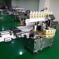 上海问多HRQ-WD600  全自动双面贴标机 平面贴标机 LED灯杆圆瓶贴标机全自动卧式贴标机