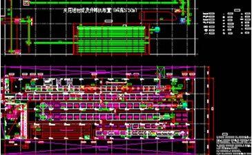 某汽车生产流水线总装工艺平面布置图AutoCAD图纸下载