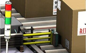贴标机输送机概念设计三维图