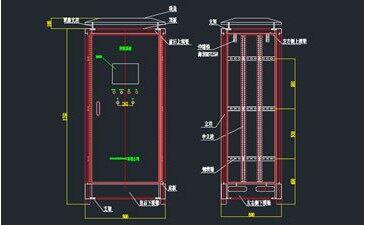 一种电气控制柜CAD图纸